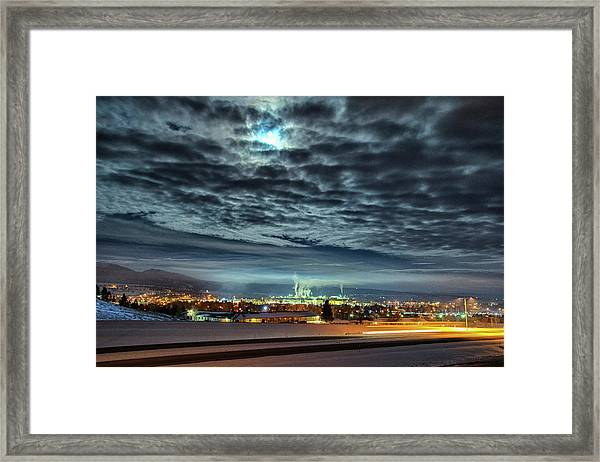 Spearfish Under The Moon Framed Print