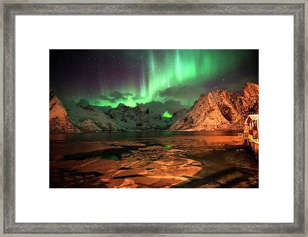 Spectacular Night In Lofoten 1 Framed Print