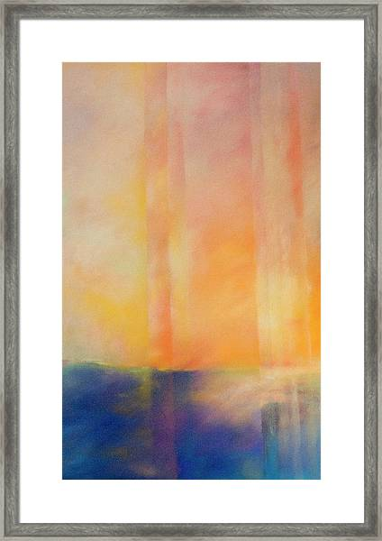 Spectral Sunset Framed Print