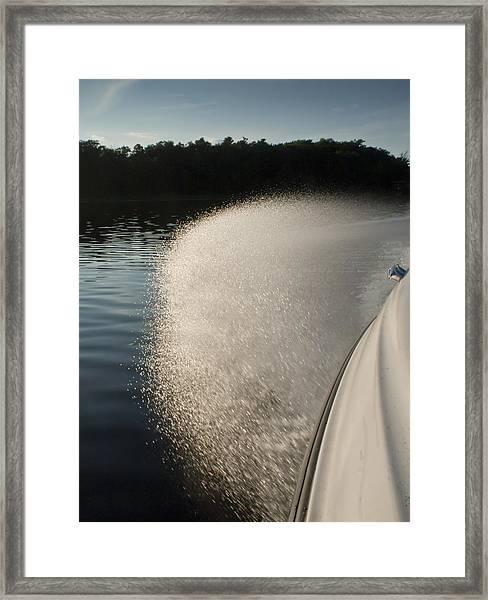 Speed Boat Framed Print