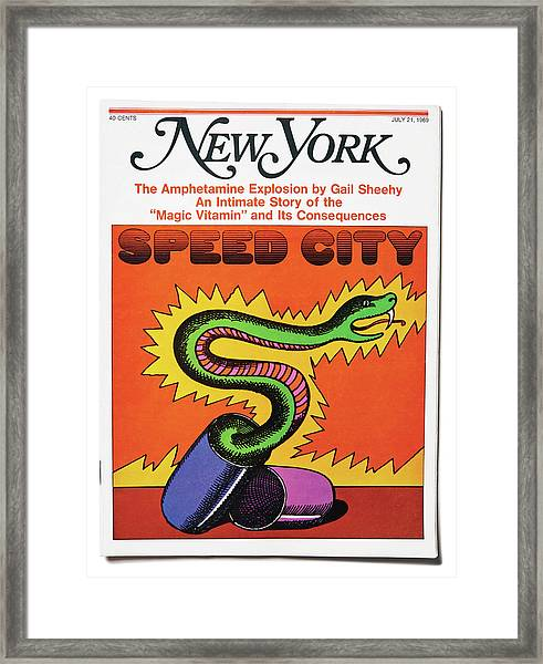 Speed City Framed Print