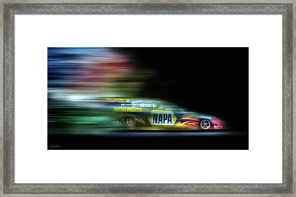 Speed Coloring Framed Print