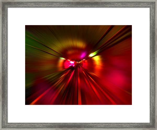 Speed - Metro Subway Train Framed Print