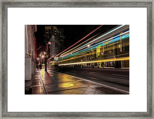 Speed Of Light Framed Print
