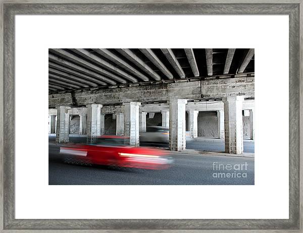 Speeding Car Framed Print