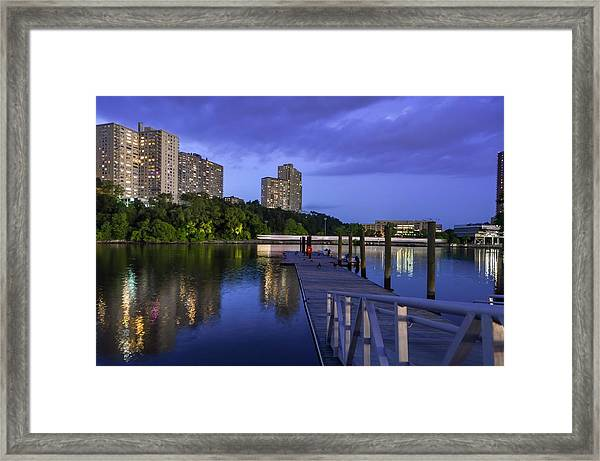 Speeding Train Framed Print