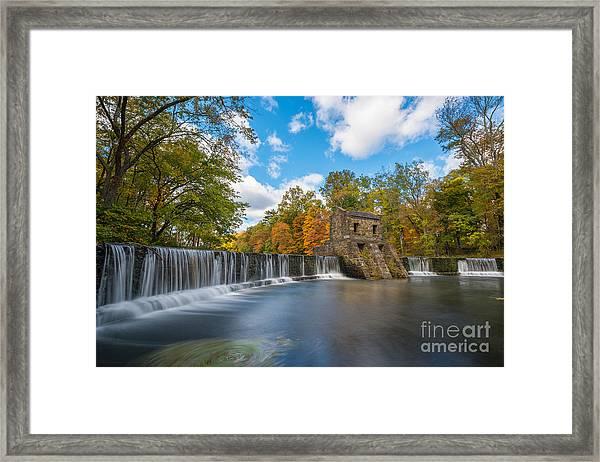 Speedwell Dam Fall Foliage Framed Print