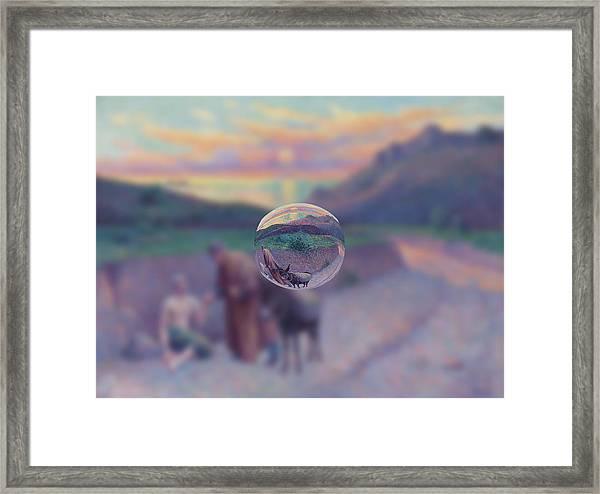 Sphere 10 Luce Framed Print