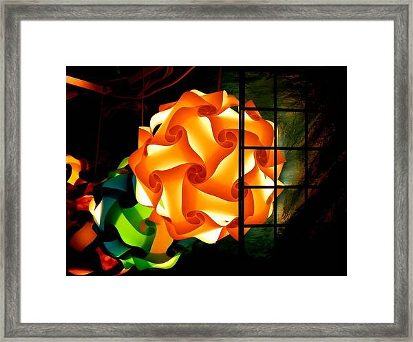 Spheres Of Light Electrified Framed Print