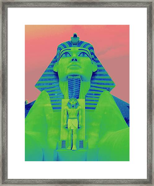 Sphinx At Luxor - 2 Framed Print
