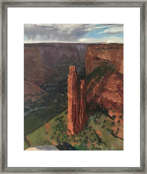 Spider Rock, Canyon De Chelly Framed Print