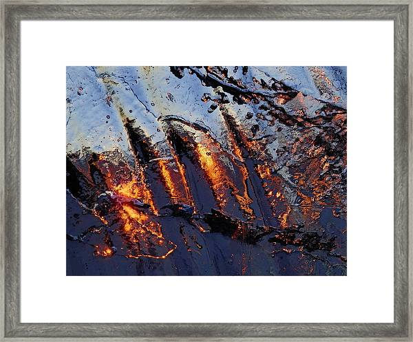 Spiking Framed Print