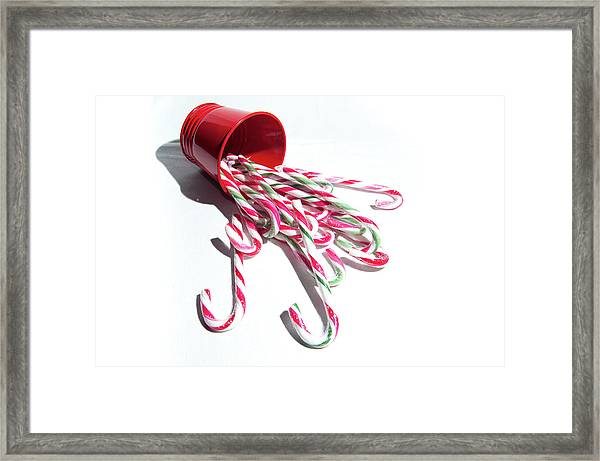 Spilled Candy Canes Framed Print