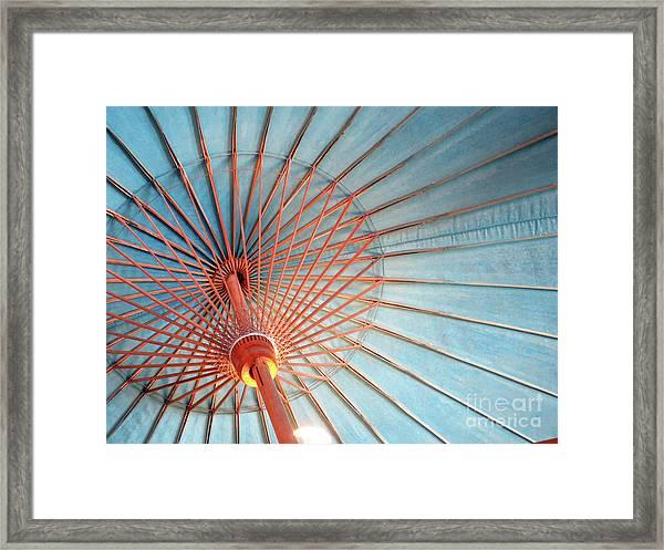Spindles And Struts Framed Print