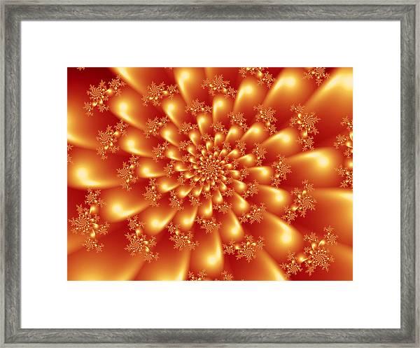 Spinning Gold Framed Print