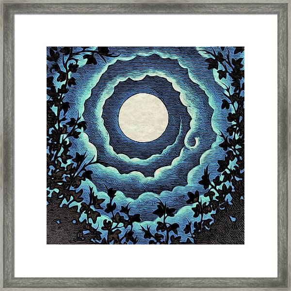 Spiral Clouds Framed Print