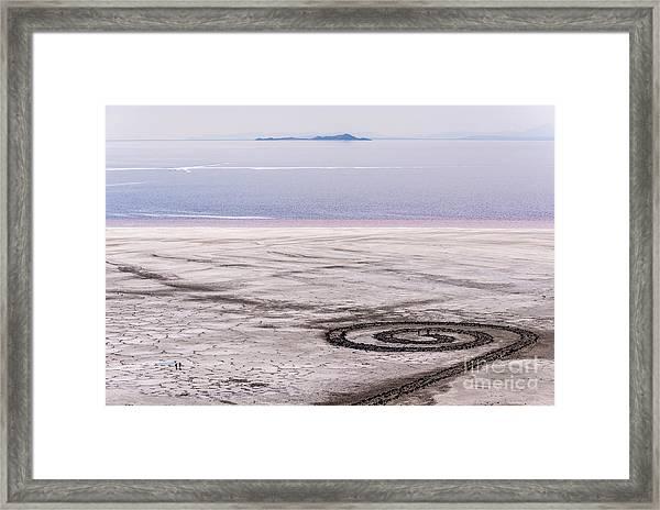 Spiral Jetty - Great Salt Lake - Utah Framed Print
