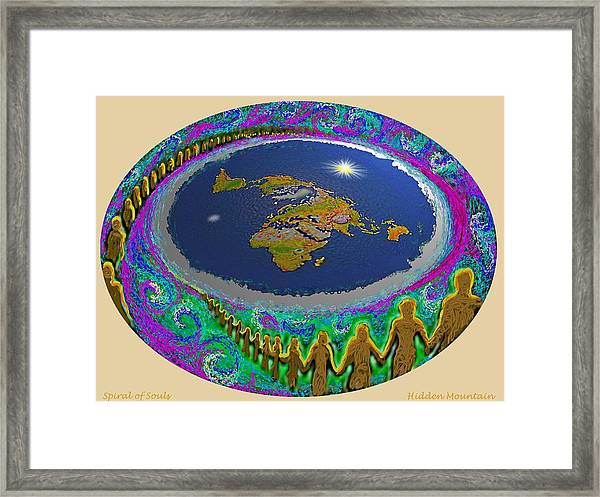 Spiral Of Souls Flat Earth Framed Print