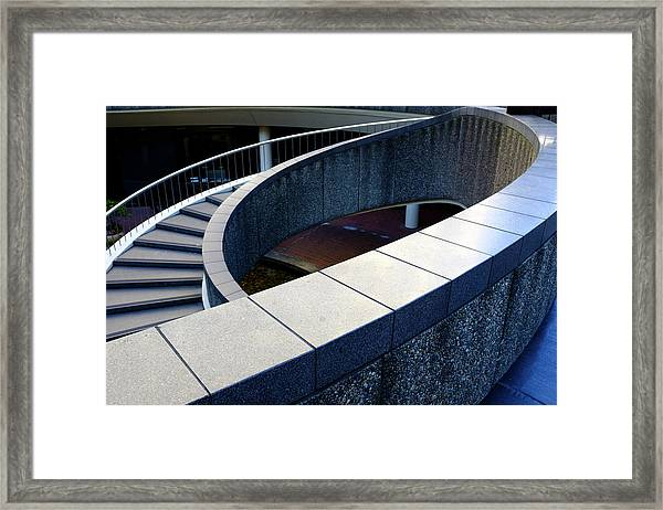 Spiral Stiars In Downtown Tacoma Washington Framed Print