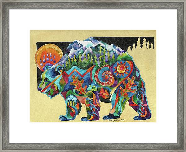 Spirit Bear Totem Framed Print