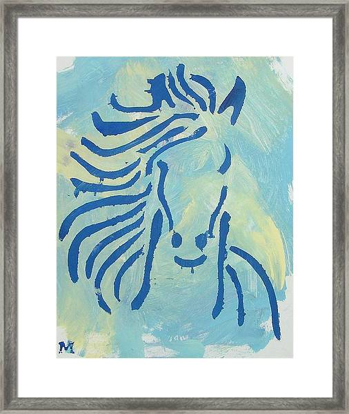 Framed Print featuring the painting Spirit Horse by Candace Shrope