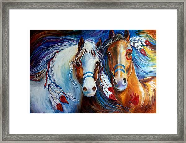 Spirit Indian War Horses Commission Framed Print