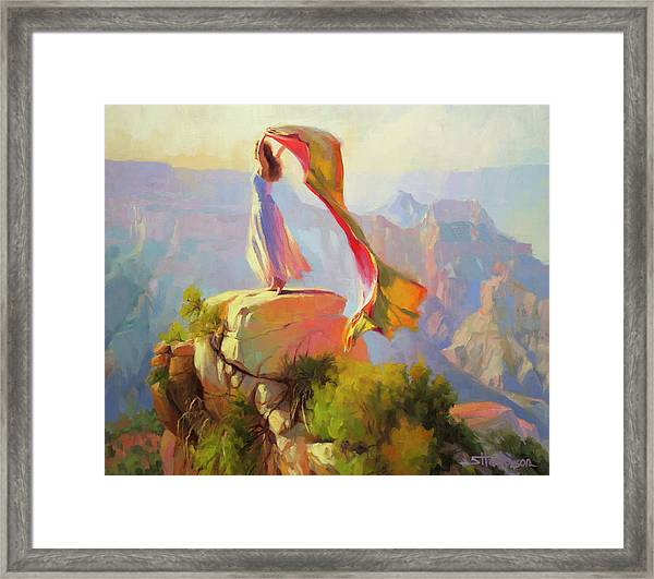 Spirit Of The Canyon Framed Print