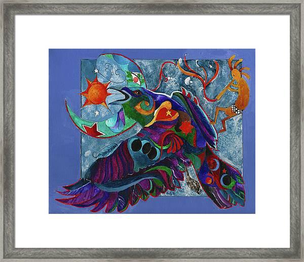 Spirit Raven Totem Framed Print