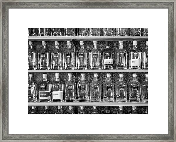 Spirit World Bottles Framed Print