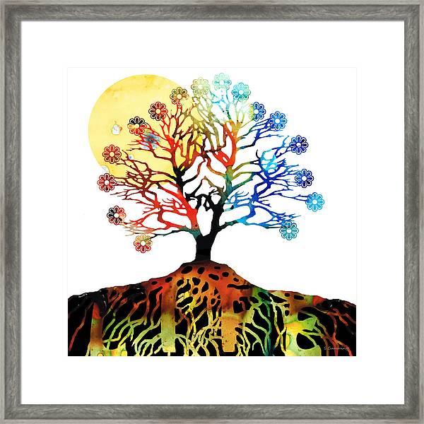 Spiritual Art - Tree Of Life Framed Print