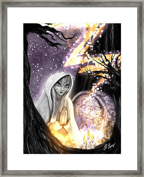 Spiritual Ghost Fantasy Art Framed Print