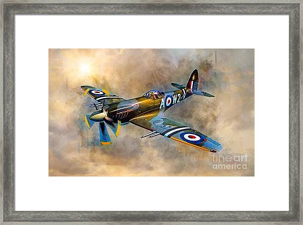 Spitfire Dawn Flight Framed Print