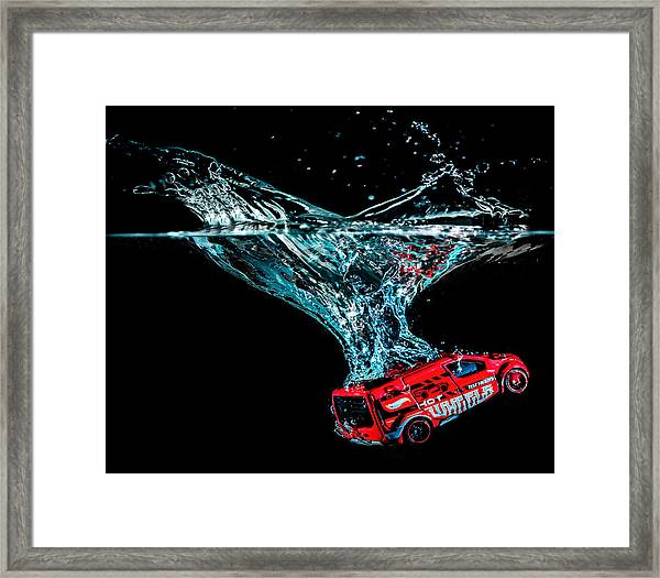 Framed Print featuring the photograph Splash Down by Nick Bywater