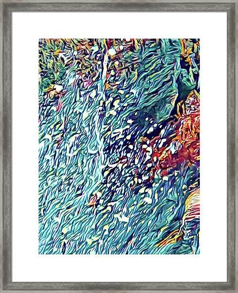 Splash Of Blue Ocean In Puna Framed Print