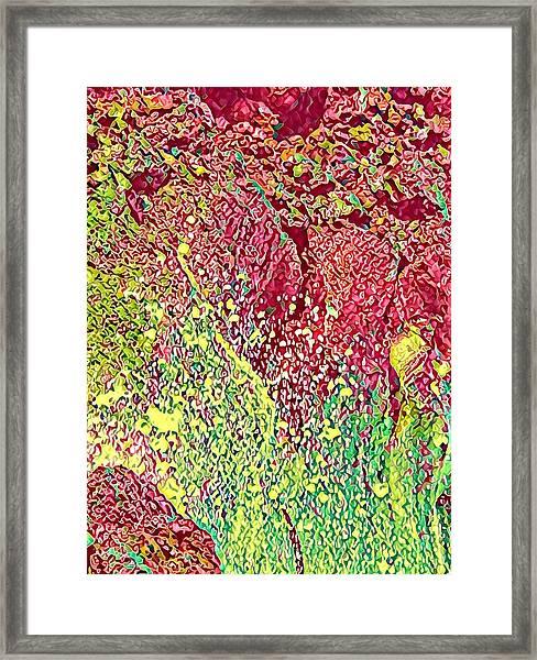 Splash Of Red - Heart Of Pele Framed Print