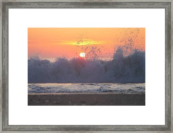 Splashing High Framed Print