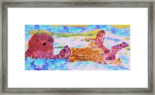 Splish Splash Framed Print