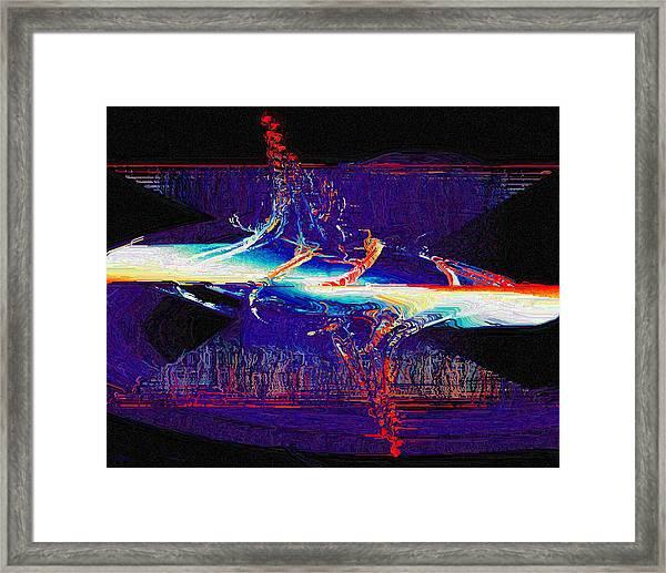 Split Infinity Framed Print