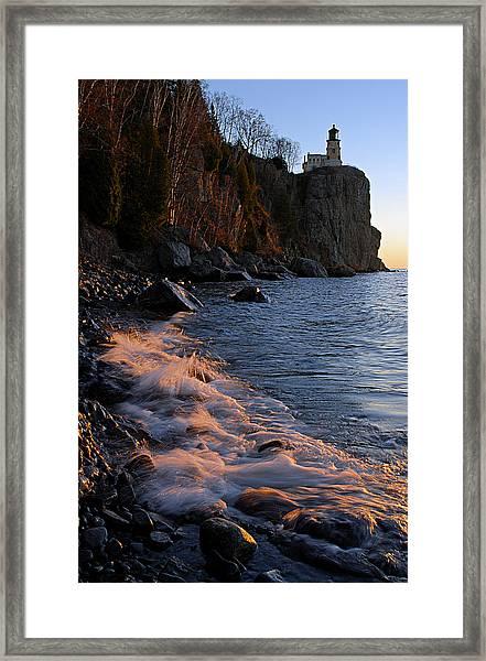 Split Rock Lighthouse At Dawn Framed Print