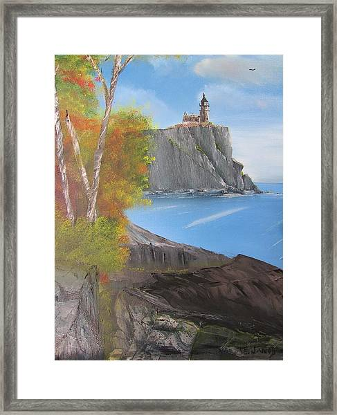 Split Rock Lighthouse Minnesota Framed Print