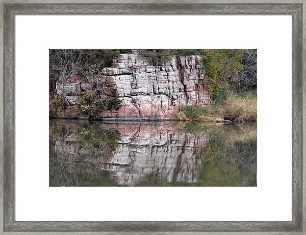 Split Rock State Park Near Garritson South Dakota Framed Print