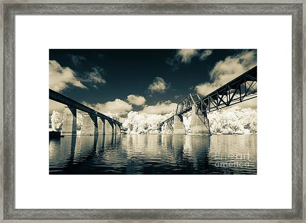 Congaree Trestles Cayce, Sc Framed Print