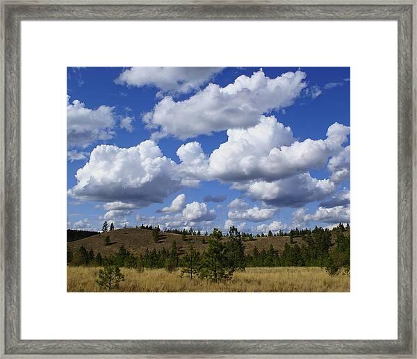 Spokane Cloudscape Framed Print