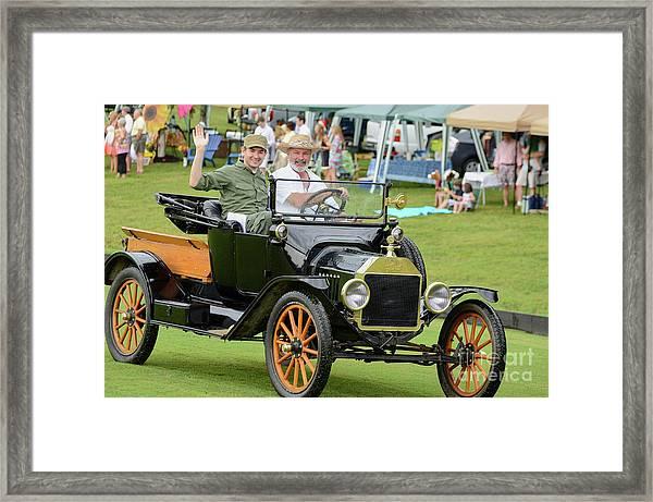 Spoke Wheels Framed Print
