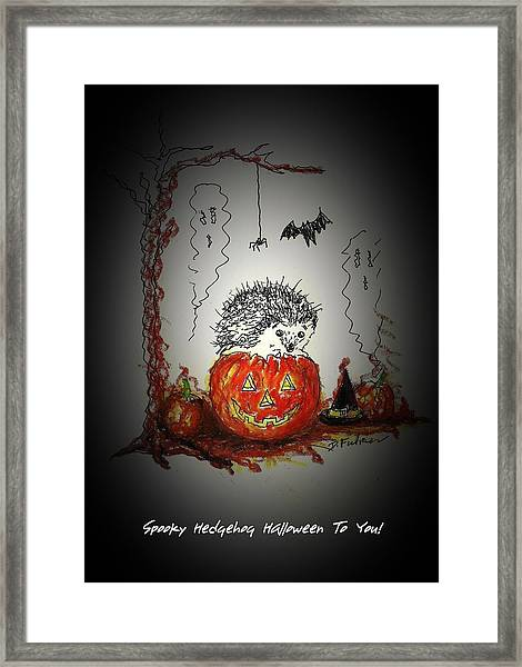 Spooky Hedgehog Halloween Framed Print