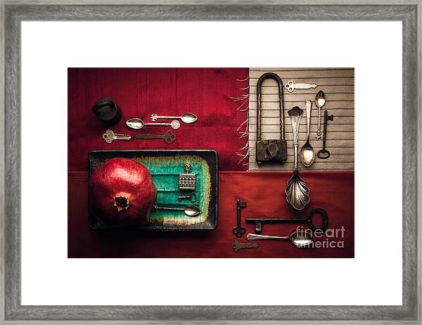 Spoons, Locks And Keys Framed Print