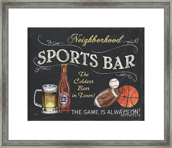 Sports Bar Framed Print