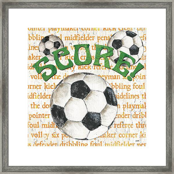 Sports Fan Soccer Framed Print