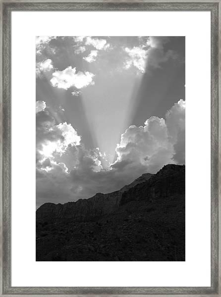 Spot Light Bw Framed Print by Darren Anderson