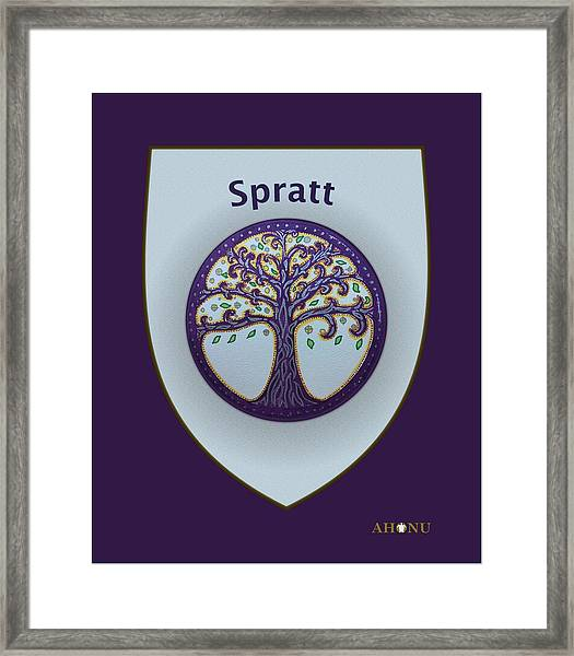 Spratt Family Crest Framed Print